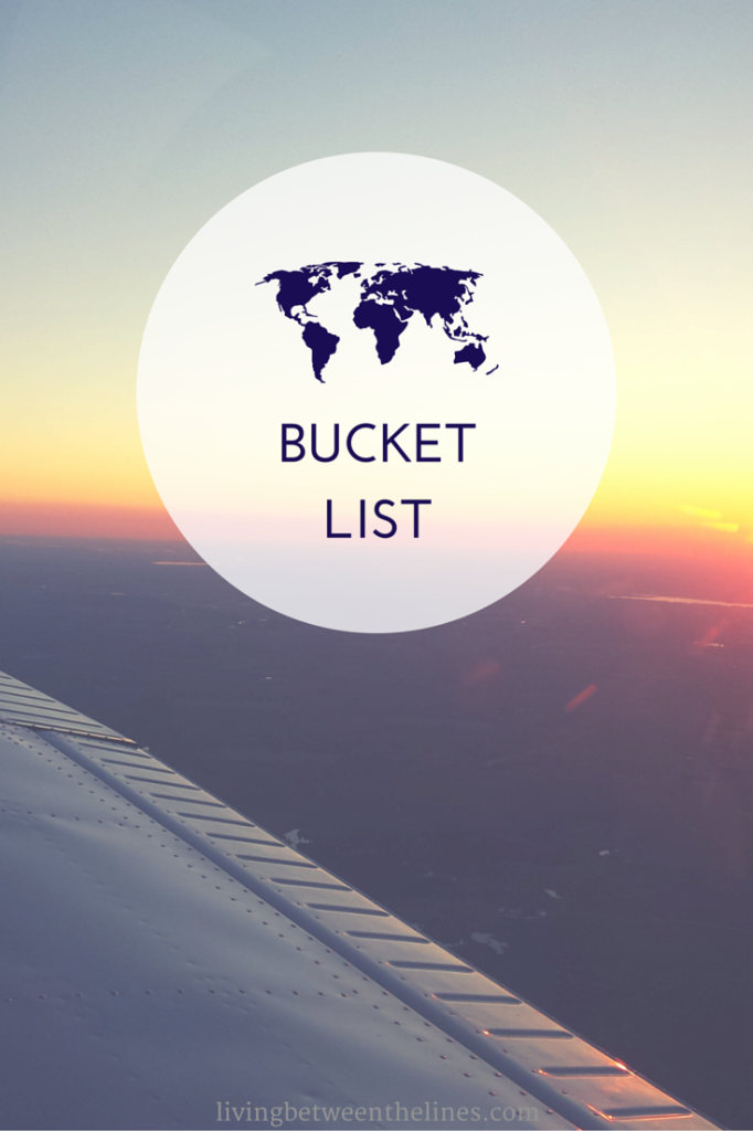 A bucket list for college students of things to learn, places to go, and goals to accomplish.