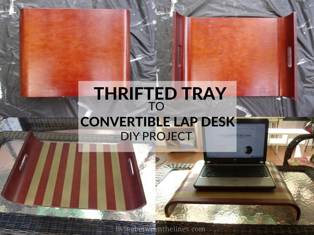 Update drab thrift store finds with metallic, geometric makeovers and creative new uses.