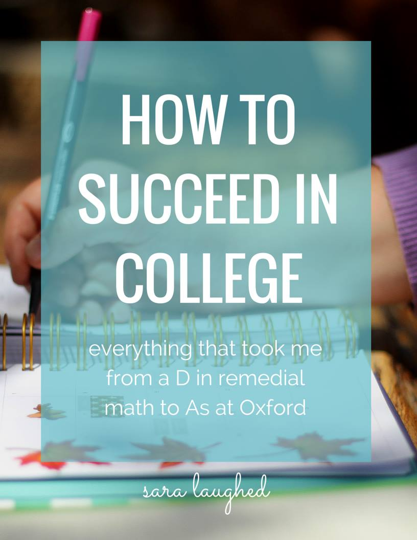 An eBook out from Sara Laughed that will guide you through every aspect of college life with wit, warmth, and wisdom.