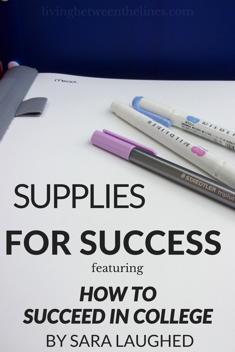 All the supplies you need to succeed this semester - especially this new college guide from Sara Laughed!