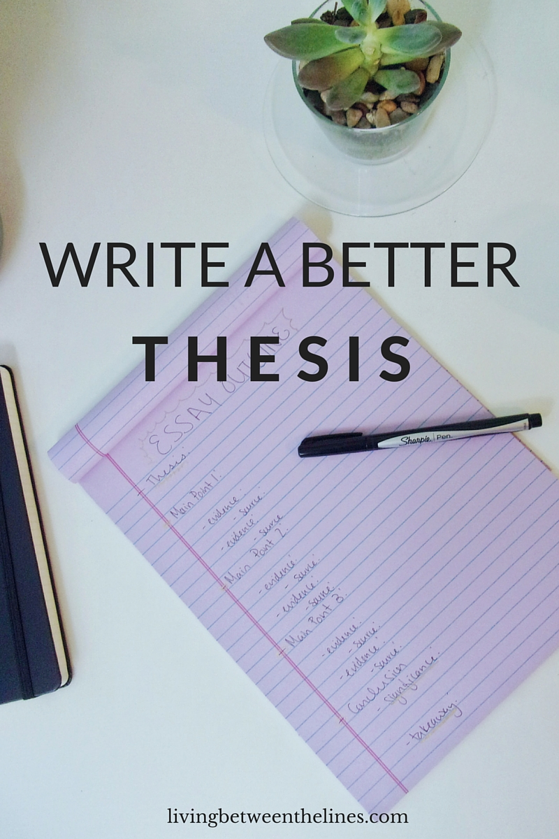 What is thesis writing university