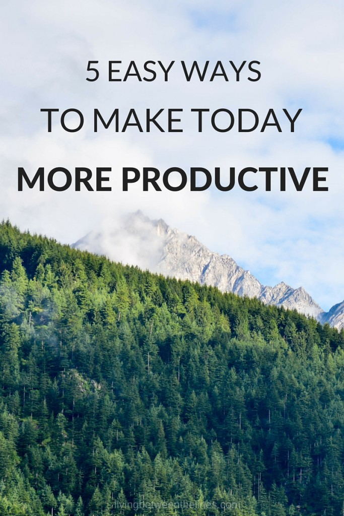 Long term strategies and big routine changes have their place, but sometimes you just need to be more productive TODAY, not later.