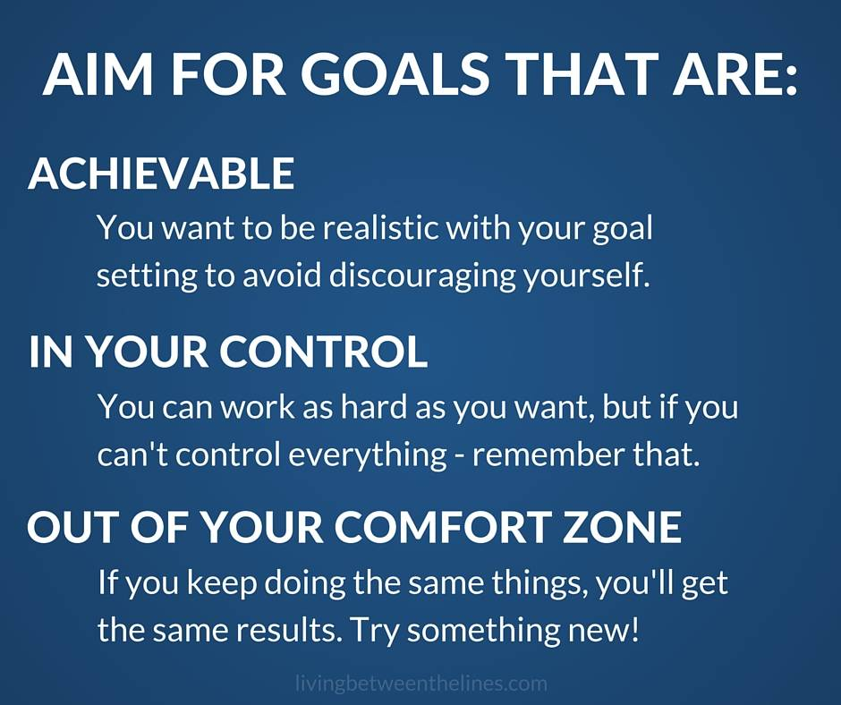 Be specific and deliberate about the kinds of goals you choose for a better chance at success!