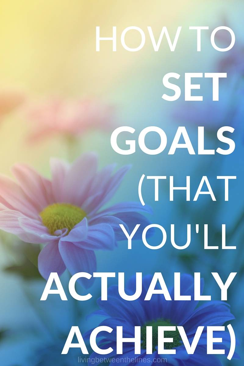 Setting goals is essential for success, but what good are they if you never follow through? Learn the best tips and tricks for setting goals you'll actually achieve with a free mini-workbook to help you out!