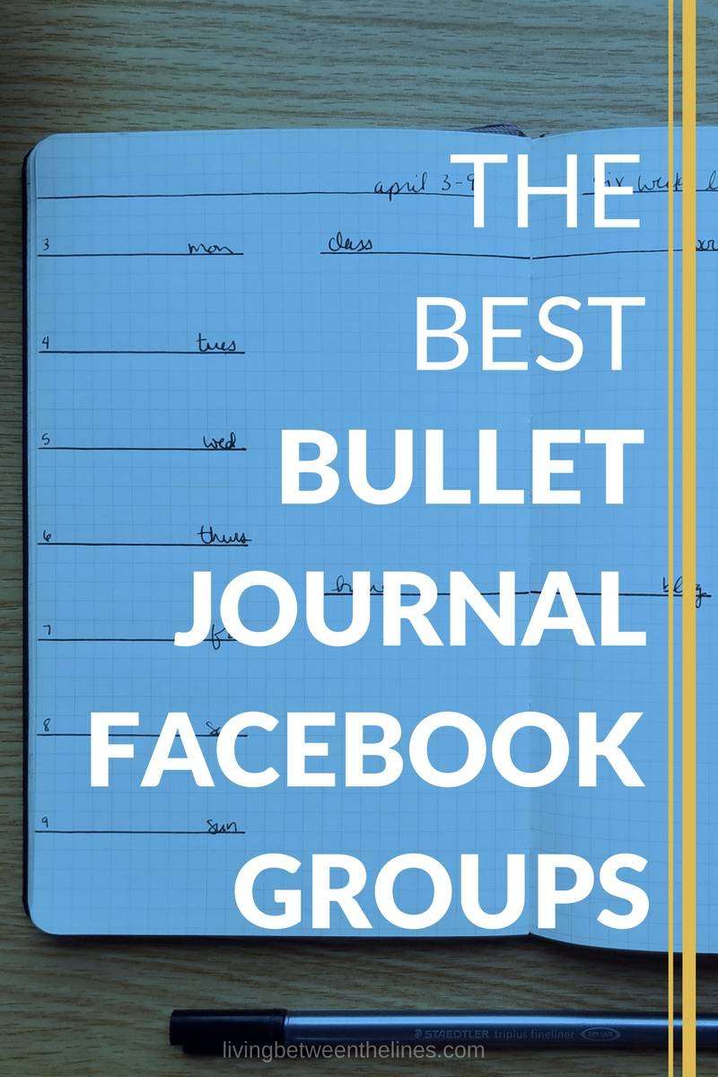 "An image of a bullet journal with the text ""The Best Bullet Journal Facebook Groups"""